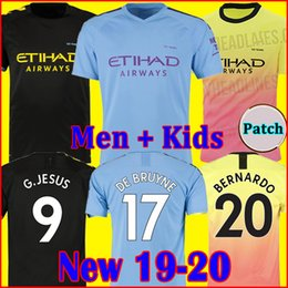 $enCountryForm.capitalKeyWord UK - 19 20 soccer jersey city 2019 2020 G. JESUS MAHREZ DE BRUYNE KUN AGUERO football shirt MENDY WALKER MAN uniforms manchester men + kids kit