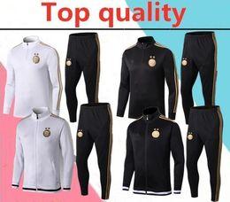 Wholesale quality sports tracksuits for sale – designer Top quality two star Algeria adult soccer jacket training suit Algeria MAHREZ BELAILI sports football tracksuit