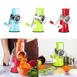 round kitchen sets Australia - Manual vegetable cutter slicer kitchen accessories multifunctional round 3 in 1 slicer fruit and vegetable kitchen gadgets set