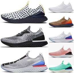 mens burgundy sneakers NZ - 2020 New Best Spring EPIC React Shoes Mens Trainers Fashion Running shoes White Black Racer Blue Womens Primeknit Sports Sneakers chaussures