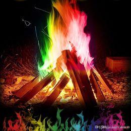 $enCountryForm.capitalKeyWord UK - 10 15 25g Novelty Magic Fire Mystical Fire Magic Tricks Colorful Flames Powder Bonfire Sachet Magicians Pyrotechnics Classic Toy