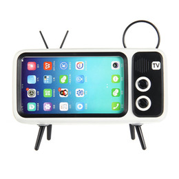 $enCountryForm.capitalKeyWord Australia - 2019 popular TV design Bluetooth dock bt speaker FM radio retro vintage mobile support phone bracket altavoz con microfono 90S Nostalgic BT