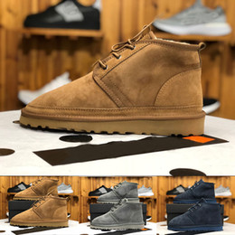 $enCountryForm.capitalKeyWord Australia - wholesale Australian Original brand men's snow boots Sheepskin fur Fashion boots for men mens Neumel shoes EU40-45 with box Top quality