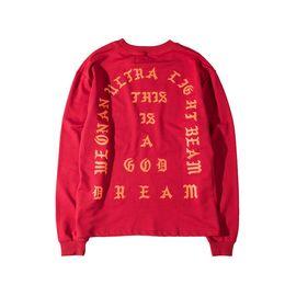 $enCountryForm.capitalKeyWord Australia - Hot Mens Pullover Clothing Kanye West I Feel Like Pablo Season Red Hip Hop Hoodies Free Shipping Street Style Sweatershirts