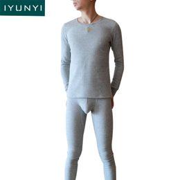 de170a7e25 IYUNYI Men Thermal Underwear Sets Long Johns Thermo Tops+Pants Autumn  Winter Warm Men Plus Thick Velvet Thermo Underwear Sets