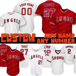 08b96c58b4e Angels jerseys online shopping - Custom Mike Trout Angels of Anaheim jersey  Shohei Ohtani Los Angeles