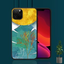 iphone abstract Australia - 2019 new Luxury Case Abstract Painting Cover For iPhone X 11 8 5S 6S 7 Plus Support Wireless Charging Case Capinha de Celular