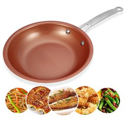 ceramic coating pans NZ - 1pc Durable Nonstick Copper Frying Pan Skillet With Ceramic Coating Induction Gas Cooker Oven Dishwasher Pan Skillet Cookware