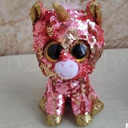 67a0a227aed Ty Beanie Boos TOYS sequin unicorn dinosaur flamingo cat Plush Toys Stuffed  Doll soft toys Baby Christmas Gift Doll KKA6596
