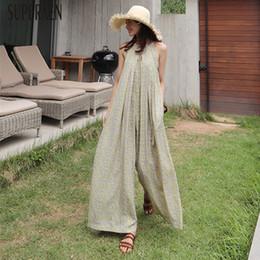 $enCountryForm.capitalKeyWord Australia - Superaen Summer Korean Style Women Jumpsuits Wide Leg Pants Pluz Size Chiffon Jumpsuits Casual Loose Fashion Jumpsuits New 2018 MX190726