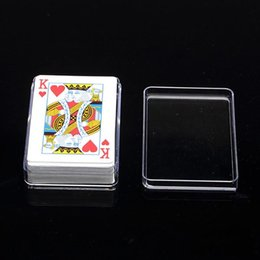 virgin cards UK - High quality transparent Card Holders plastic box PS Storage Poker box packing shipping material fast shipping