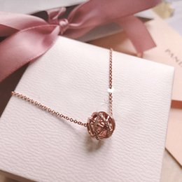 $enCountryForm.capitalKeyWord Australia - 58 Panjia Hollow Galaxy Necklace 925 Pure Silver Rose Gold Clavicle Chain Female String Decoration Transfer Beads Drop DIY String Beads