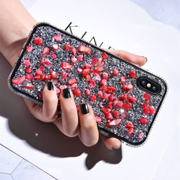 DiamonD style phone case online shopping - Coloful Stone Luxury Designer Phone Case For iPhone Xs Max Xr Plus Brand Style Diamond For iPhone pro Cover