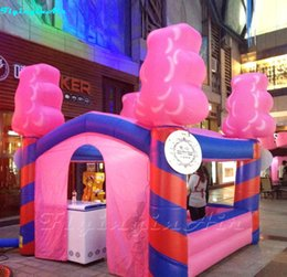 inflatable candy Canada - 4m Advertising Inflatable Icecream Booth  Inflatable Candy Sweet House for Promotion