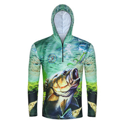 834aa11d2588 Man Summer Outdoor Sports Jacket Fishing Shirt Zipper Hooded Clothes  Sunscreen Breathable Men Quick Dry Fishing Hiking Shirts