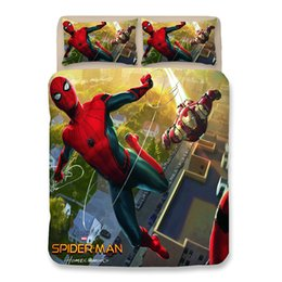 spiderman beds Australia - 2019 3D Bed Sheets Bedding Sets Young Spiderman Printing Pattern Duvet Covers New Style Cartoon Pillow Case Polyester King Size