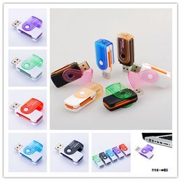 Multi Connectors Australia - Factory price multi card in 1 USB 2.0 adapter connector micro SD TF M2 memory stick MS Duo RS-MMC memory reader