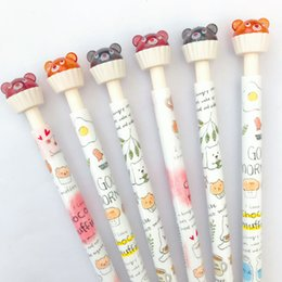 mechanical bearing NZ - Kawaii Cup Cake Bear Press Mechanical Automatic Pencil Writing Drawing School Office Supply 0.5mm