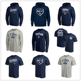 East jErsEy online shopping - New York AL East Division Champions Yankees jersey Navy designer T Shirts long sleeve Mens graphic tees Fans Tops Hoodies printed