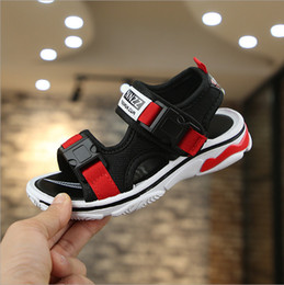 Boy Shoes Size 26 Australia - Three Colors Kids Sports Sandals Summer Outdoor Open Toe Beach Sandals Water Shoes for Boys Sizes 26-37
