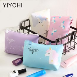 wholesale candy korean 2019 - Candy Color Make Up Bags Unicorn Travel Cosmetic Bag Zipper Handbag Organizer Storage Pouch Toiletry Wash Bag discount w