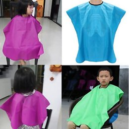 hair cutting capes children Australia - New Child Salon Waterproof Hair Cut Hairdressing Barbers Cape Gown Wai Cloth Color Random