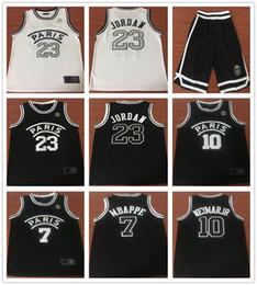 4175f96164a New 2019 PSG Paris Jersey 23 Michael JD 10 NEYMAY JR 7 MBAPPE Basketball  Jerseys Black White Wholesale Cheap Stitched Shirts