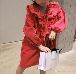 $enCountryForm.capitalKeyWord Australia - Factory Promotions Fall Newest INS Little Girls Dresses Long Sleeve Ruffles Straps Collar Blank Modern Vintage Children Girls Casual Dress