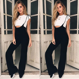 Women Jumpsuit Romper Playsuit Australia - Women Ladies Clubwear Playsuit Bodycon Party Jumpsuit Romper Trousers Spaghetti Strap Sleeveless Overall Long Pants