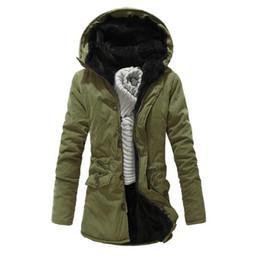 $enCountryForm.capitalKeyWord Australia - 2019 Fashion Winter jacket men Coat Thick Warm Long hooded Parka Outwear Casual Fashion Slim Fit Wadded Green Jackets XXL Y1