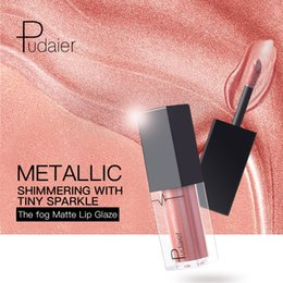 $enCountryForm.capitalKeyWord NZ - Pudaier 24 Colors Metal Shimmering Lipgloss 1PCS Glitter Lipstick Liquid Makeup Waterproof Long-lasting Metal Metallic Lip Gloss