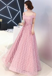 $enCountryForm.capitalKeyWord Australia - Blush Pink Lace 2019 Evening Dresses Spaghetti Lace Up Prom Dresses Cheap Vintage Formal Party Bridesmaid Pageant Gowns