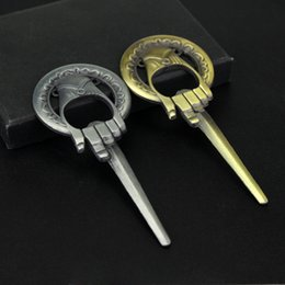 Metal Movies Australia - Bottle Opener Game of thrones Europe and America movie Ice and Fire Song King Hand Scepter Opener Keychain Metal Alloy Kitchen Tools