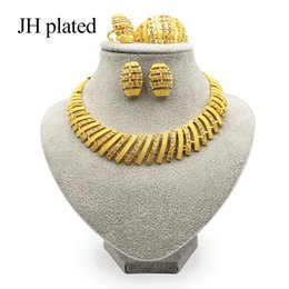 $enCountryForm.capitalKeyWord Australia - JHplated African Ethiopia Fashion jewelry sets New gold color for women Luxury Wedding gift sets India Women Gifts Wholesale