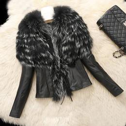 $enCountryForm.capitalKeyWord Australia - Hot Winter Women's Warm Fur Collar Coat Faux Leather Jacket Overcoat Parka Winter