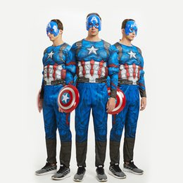 02a0faa481 Cosplay iron man superhero superman costume spider batman thor captain  America adult muscle costume male YW