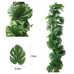 $enCountryForm.capitalKeyWord Canada - 100cM Artificial Green Turtle Leaf Rattan Plants Hanging Vine Artificual Fake Leaves Greenery Wedding Home Garden Wedding Garland Decoration