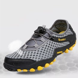 swim shoes for beach NZ - Outdoor Water Sneakers Men's Hiking Shoes Speed Dry Two Perch Shoes Beach Water Surf For Swimming Shoe Woman sneakers men