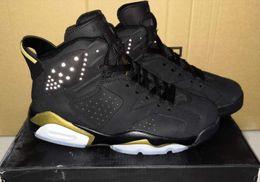 $enCountryForm.capitalKeyWord Australia - New Arrival Men's Black Gold Matching Color 6 Sports Shoes 6S Anti-Slip Shock-Absorbing Breathable Original Export