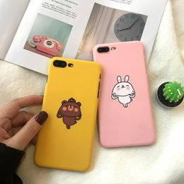 $enCountryForm.capitalKeyWord Australia - Japan and South Korea Couple Cute Bunny Apple 6 Phone Case IPhone7plus 8 6s X Frosted Cover