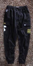 Pants Sports Wear Cotton NZ - Designer Pants Men Pants Casual Pant for Men Fashion Tide Street Wear Hip Hop Cotton Blend Pocket Loose Elastic Waist Cargo Pants Sport