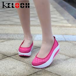 $enCountryForm.capitalKeyWord Australia - Designer Dress Shoes Keloch Spring Summer Mesh Women Fashion Wedges Pumps Ladies Platform Rocking Shaping Walking