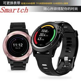 Android Os Smart Watch Australia - Smartch H1 Smart Watch Android 5.1 OS Smartwatch MTK6572 512MB 4GB ROM GPS SIM 3G Heart Rate Monitor Camera Waterproof Sports Wr