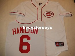 cheap mens shirts xl Canada - Cheap baseball #6 BILLY HAMILTON shirt Sewn JERSEY WHITE New Mens stitched jerseys Big And Tall SIZE XS-6XL For sale
