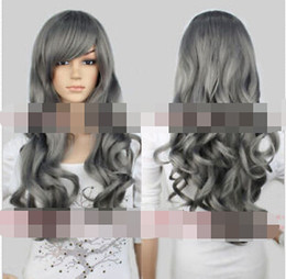 $enCountryForm.capitalKeyWord Australia - Heat Resistant Cosplay Harajuku New Women's Lady Gray Full Wig Wavy Long Hair Wigs Anime Costume for women wig
