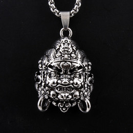 $enCountryForm.capitalKeyWord Australia - High Quality Men's Silver Alloy Buddhist Monks Pendant Necklace Jewelry