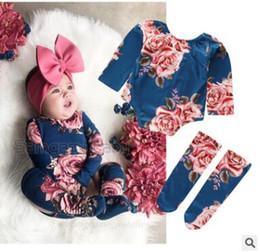 Toddler legging seTs online shopping - Newborn Baby Girl Tops Romper Leg Warmers Outfit Clothes Set Summer Short Sleeve Floral Jumpsuit Bodysuit Toddler Girls Clothes M