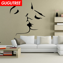 $enCountryForm.capitalKeyWord Australia - Decorate Home kiss cartoon art wall sticker decoration Decals mural painting Removable Decor Wallpaper G-2032