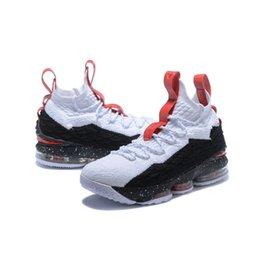 Cheap quello che lebron 15 scarpe da basket da uomo per la vendita di fiori Natale BHM Oreo gioventù bambini Generation sneakers stivali con scatola originale in Offerta