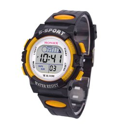 kids digital sports watch Australia - HONHX LED Digital Watches Waterproof Children Boys Sports Watch Kids Alarm Date Analog Quartz Wristwatches relogio masculino